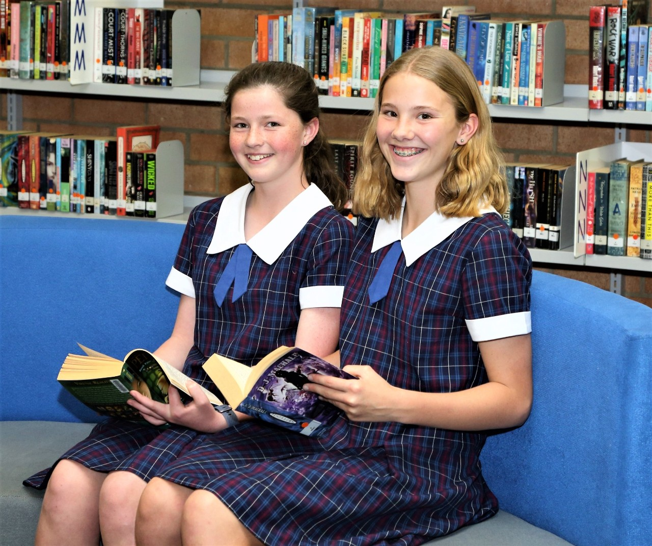 Students in the library at Bulli High School