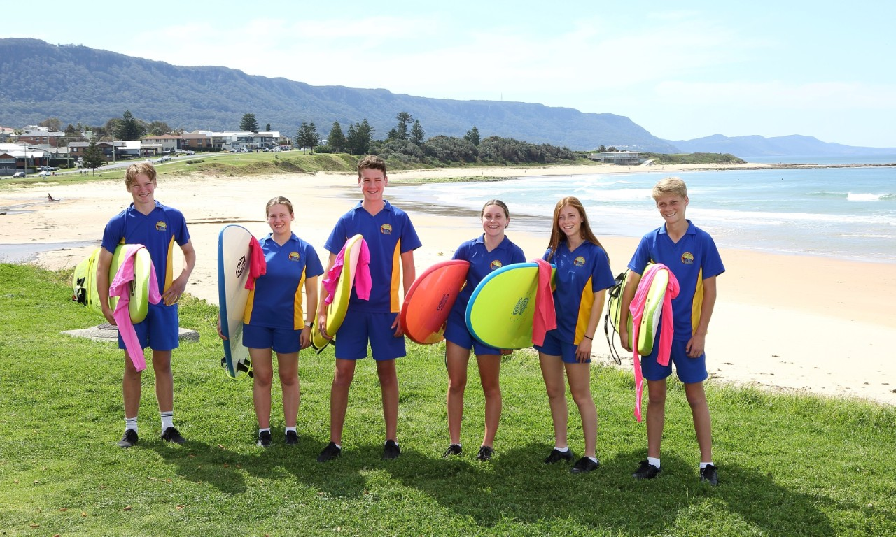 Students at Sandon Point