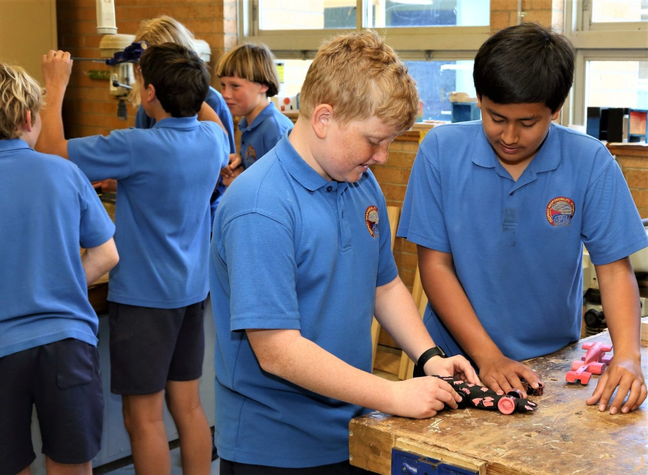 Technology students at Bulli High School